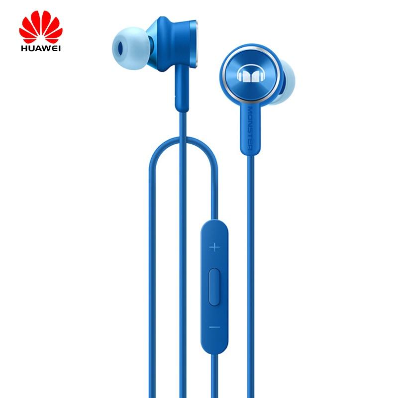 Original Huawei Honor Monster 2 Headset AM17 HIFI Stereo Verdrahtete Inohr kopfhörer mit mikrofon für mate10/p10/mate9 /p20 v10/v9