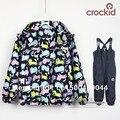 Экспорт весной и осенью ребенок открытый водонепроницаемый куртки и брюки ветрозащитный костюм