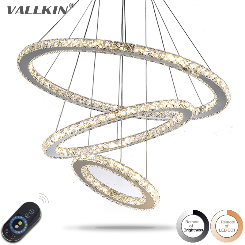 Dimmable Pendant Lights LED Crystal Lighting Hanging Lamps Indoor Home Light with Remote Control for Hallway Indoor Home Deco modern crystal chandeliers home lighting decoration led pendant lamp ring hanging lamps indoor fixtures with remote control