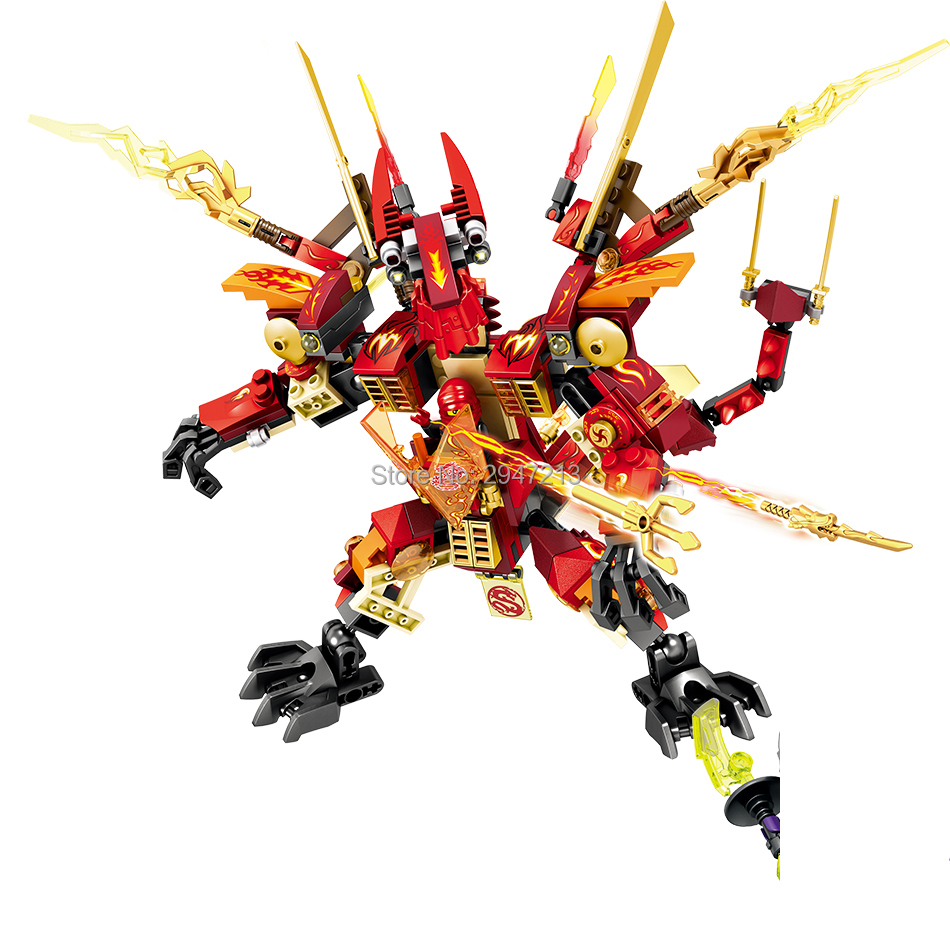 2017 heißer kompatibel LegoINGlys NinjagoINGlys drachen Mech modle bausteine mit mini ninja figuren waffen ziegel spielzeug geschenk