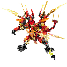 2017 sizzling suitable LegoINGlys NinjagoINGlys dragon Mech modle Building blocks with mini ninja figures weapons brick toys present