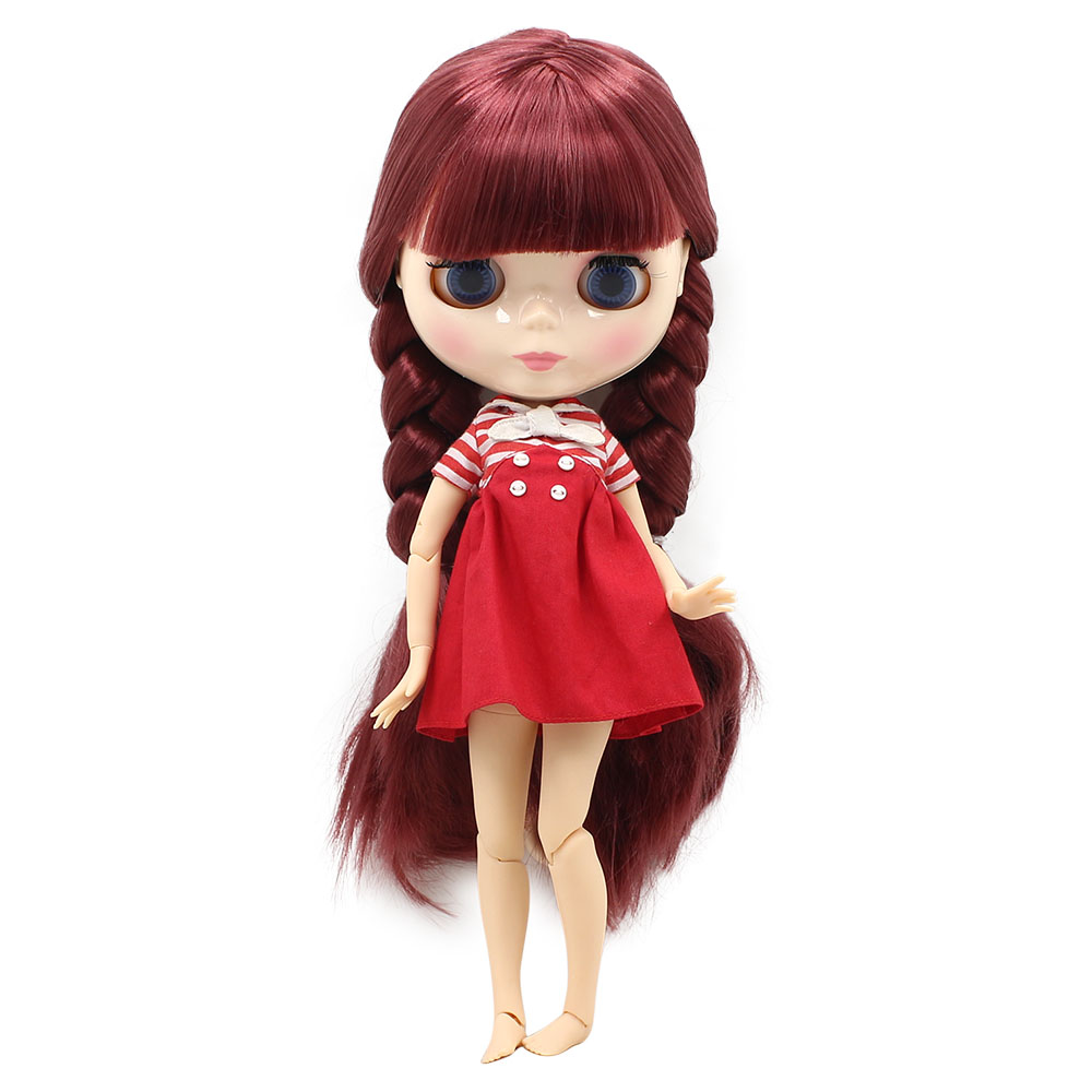 NO.12532 Factory NEO blythe joint doll Red Hair offer toy gift special price on sale suitable makeup in yourself