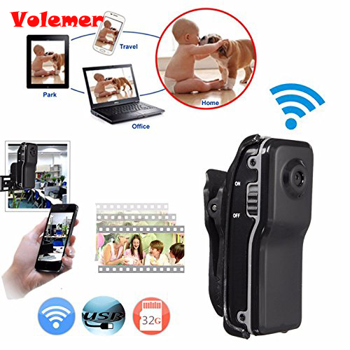 Volemer Mini Camera Security DV Wifi IP Wireless Cam Secert Micro Candid Small Camcorder Digital Infrared Mini Recorder Candid
