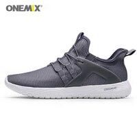 Onemix мужские кроссовки для бега  супер легкие эластичные мягкие спортивные кроссовки  мужские атлетические кроссовки для прогулок  дышащие