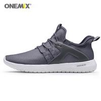Onemix 남성 운동화 슈퍼 라이트 탄성 소프트 스포츠 신발 남자 운동 트레이너 야외 워킹 메쉬 통기성