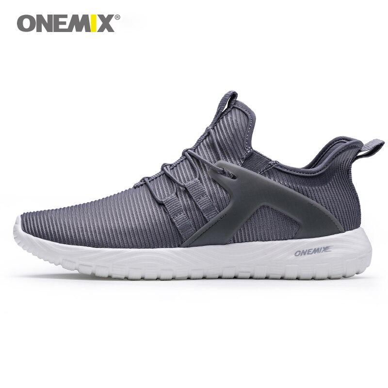 Onemix muškarci trčanje tenisice super svjetlo elastične meke sportske cipele čovjek atletski treneri na otvorenom hodanje mreže prozračna