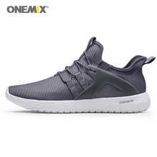 Onemix men running sneakers super light elastic soft sport shoes man athletic trainers outdoor walking mesh breathable