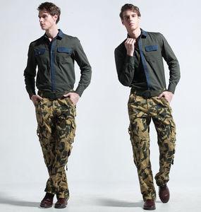 Image 5 - Мужские хлопковые военные мульти карманные утилитарные повседневные просторные брюки карго полной длины для улицы, Рабочие камуфляжные штаны, Размеры 30   38