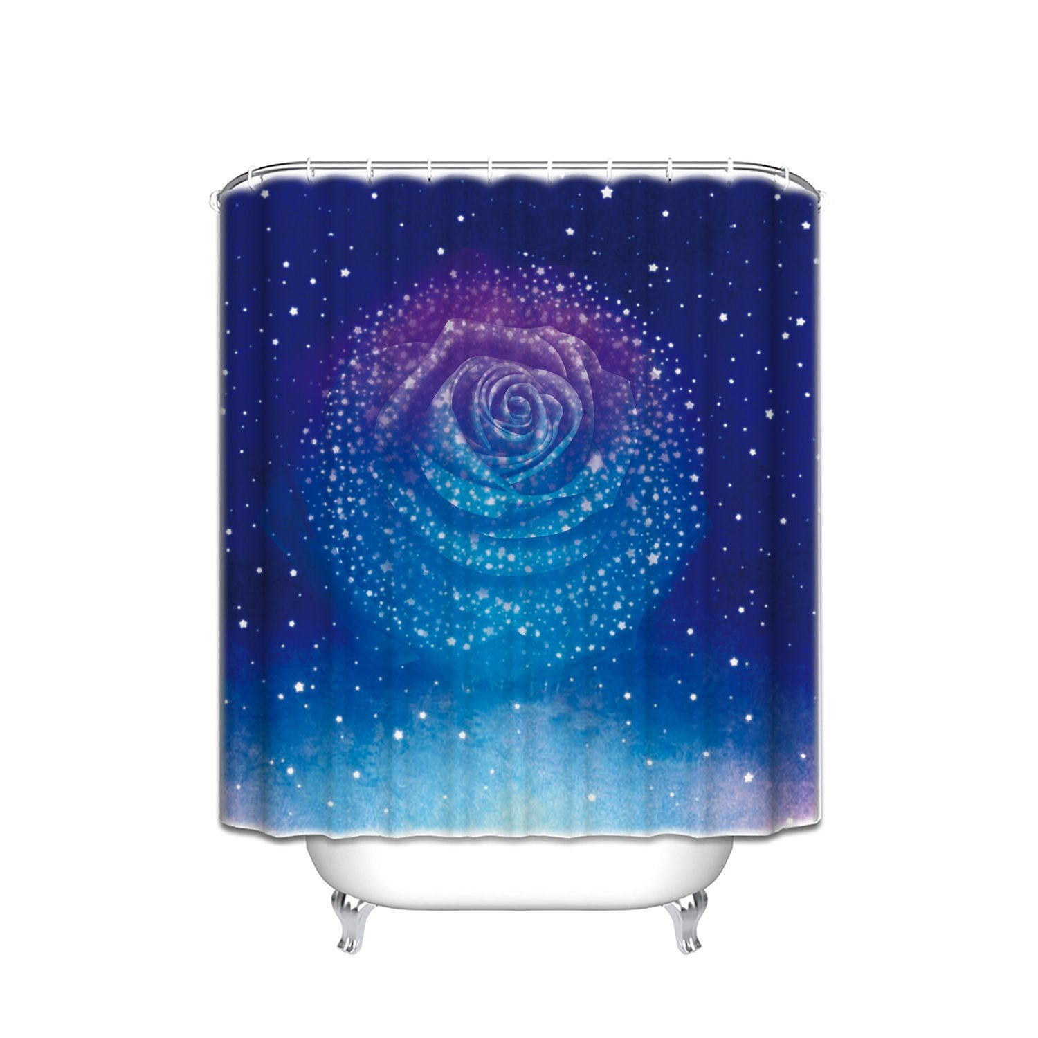Romantic shower curtain - Starry Night Make Rose Shower Curtain Romantic Shower Curtain Decor Your Home 48x72in