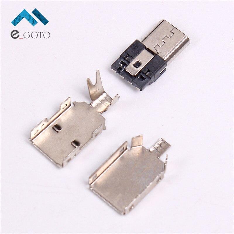 10 шт. 5 Булавки Micro USB разъем USB мужской DIY Adapter Kit конвертер <font><b>Connector</b></font> Зарядное устройство зарядки разъем USB сварки Тип 5-Булавки 5 P
