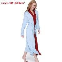 CooLMiFashion Phụ Nữ Mềm Dài Tay Áo Áo Ngủ Ngủ Bông Thời Trang Mới Homewear của Phụ Nữ Sleep & Loung mặc quần áo gown Robes