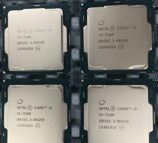 Новый оригинальный Intel i3 7100 однокристальный двухъядерный двунитка 3.9 ГГц ПРОЦЕССОР LGA1151 официальная версия