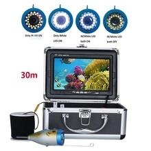 """"""" дюймовый 30 м 1000TVL рыболокатор подводная рыболовная камера 15 шт. белые светодиоды+ 15 шт инфракрасная лампа для ледовой/морской/речной рыбалки"""