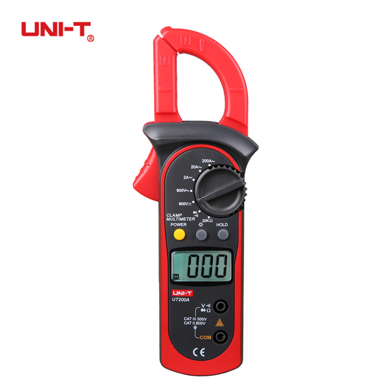 UNI-T UT200A Digital Clamp Meter Professional Ohm DMM DC AC Voltmeter AC Ammeter Resistance Testers With Backlight Multimeter цена