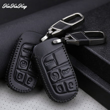 KUKAKEY Leather Car Key Case Cover Shell Fob Bag For Jeep Wrangler Patriot Grand Cherokee Compass Liberty Best Festival Gift