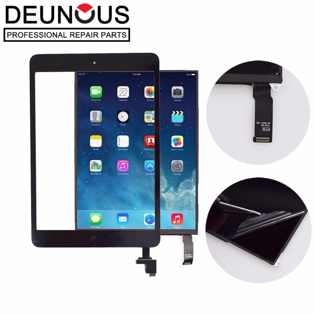 Black / White For <font><b>iPad</b></font> Mini 1 1st <font><b>A1432</b></font> A1454 A1455 Touch <font><b>Screen</b></font> Digitizer Sensor Glass + LCD <font><b>Display</b></font> <font><b>Screen</b></font> Panel Monitor image