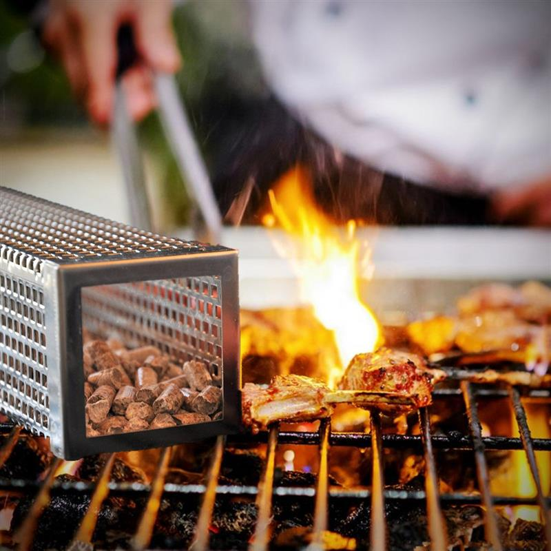 undefeated x more photos wholesale price Details about 12'' BBQ Grill Smoking Mesh Tube Stainless Steel Cube Wood  Kitchen Outdoors