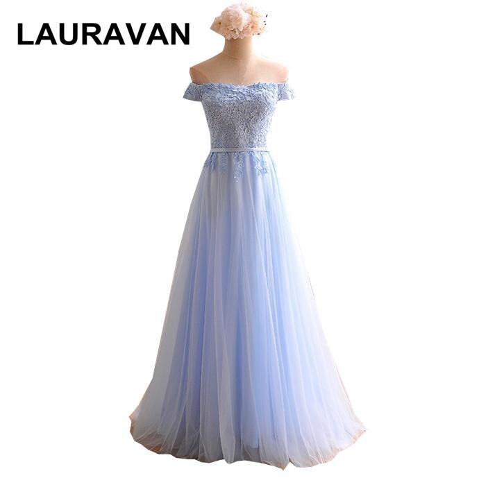 princess grace lace ladies light sky blue long vintage boat neck off shoulder   bridesmaid     dress     bridesmaids     dresses   ball gown