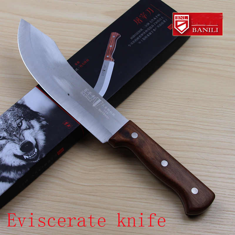 Free Shipping Liang Da Handmade Stainless Steel Kitchen Boning Knife Slaughter Butcher Knives Eviscerate Meat/Bone Butcher Knife