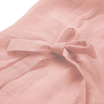 2019 Women Button Solid Bikini Cover Up Summer Beach Dress Cotton Ladies Casual Kaftan Beach Tunic T-Shirt Blouse Pareos Cape 5