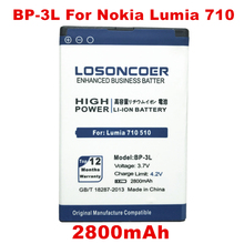 0b0b2411487 LOSONCOER 2800mAh BP-3L phone battery for Nokia Lumia 710 510 603 303 603  610