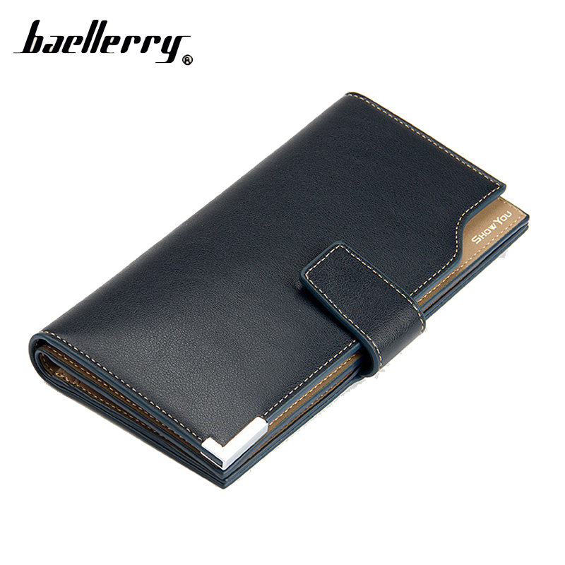 Baellerry Long Phone Money Bag Clutch Men Wallet Male Purse Cuzdan For Card Holder Luxury Baellery Portomonee Walet Perse Vallet