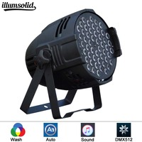 led par lights 54x3W DJ Par LED RGBW Wash Disco Light DMX Controller effect Fast Shipping