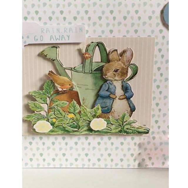 Sello transparente de conejos de jardín para tarjetas de papel de Scrapbooking nuevo