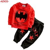 Baby Boys Clothes Set Kids 2Pcs Batman Printed Sport Suit Boy Cotton Long Sleeve T Shirt
