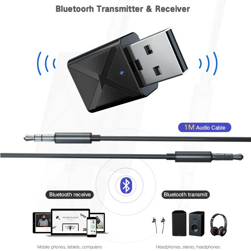 Rovtop-2-in-1-Car-Bluetooth-5-0-Adapter-Wireless-Transmitter-Receiver-Stereo-MP3-Music-AUX (3)