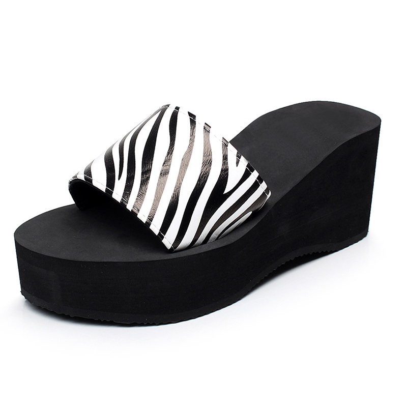 2017 Platform Wedges Sandals Summer Style Creepers Casual Slippers Shoes Woman Plus Size Flip Flops 9 Colors casual wedges sandals 2017 summer beach women shoes platform flip flops print sandal comfort creepers shoes woman