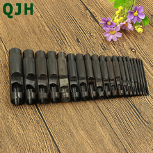 цена на 20 Size Steel Hollow Hole Punching Leather Gasket Hollow Punch Set Gasket Belt Hole Hand Hole Punching Accessories Craft Tool