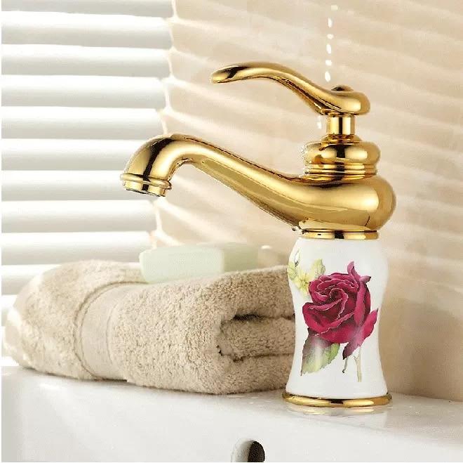 BECOLA gold basin tap bathroom taps brass chrome faucets bath mixer single handle faucet desk mounted BR-11125 bakala brass bath black faucets wall mounted bathroom basin mixer tap crane with hand shower head bath