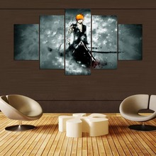 BLEACH Painting On Canvas Room Decoration 5 Panels Print