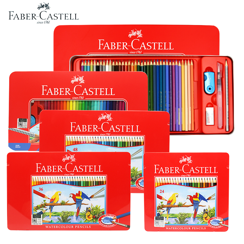 FABER-CASTEL 72 color school sketch professional children special brush gift artist water soluble pencil