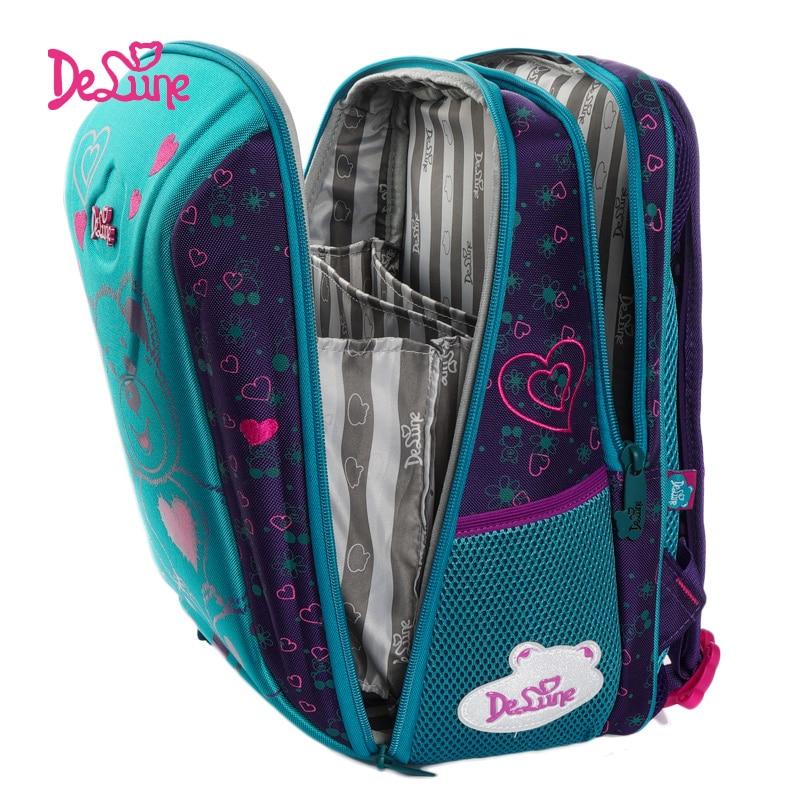 Delune nouveaux sacs d'école pour enfants pour filles garçons sacs à dos orthopédiques ours voiture modèle sacs à dos d'école Mochila Infantil Grade 1-5