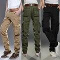 Новые Люди Брюки-Карго большие карманы украшение Случайный легко мыть мужчины Комбинезоны брюки размер 28-38 Бесплатная доставка