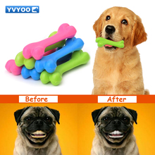 YVYOO TPR Pet toys Teddy Puppy Dogs toy No poison health Chew Rubber bones toys Molar Clean the teeth 1pcs C05