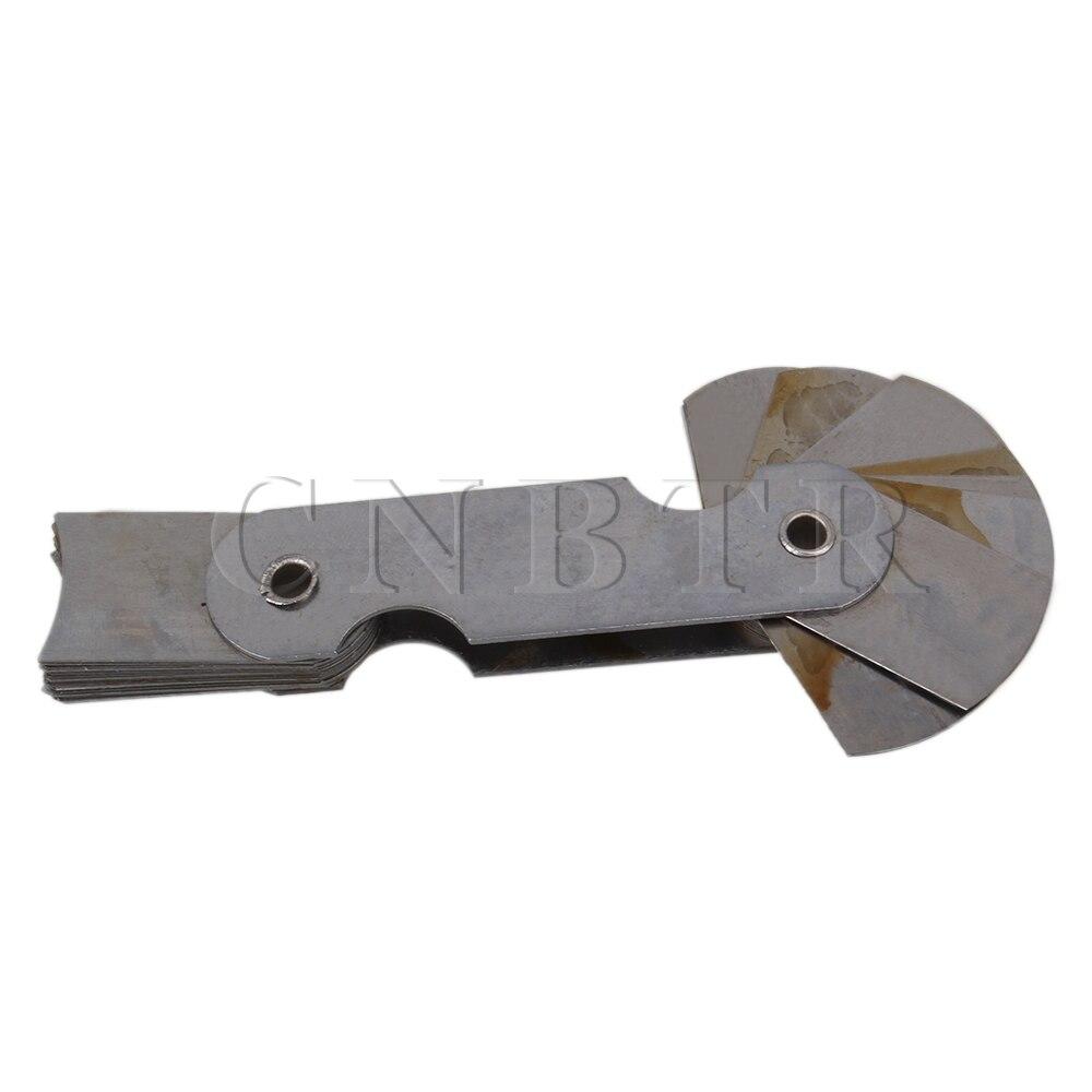 Steel Radius Gage Gauge Fillet Set R15-25mm Folding Blade Measuring Tool