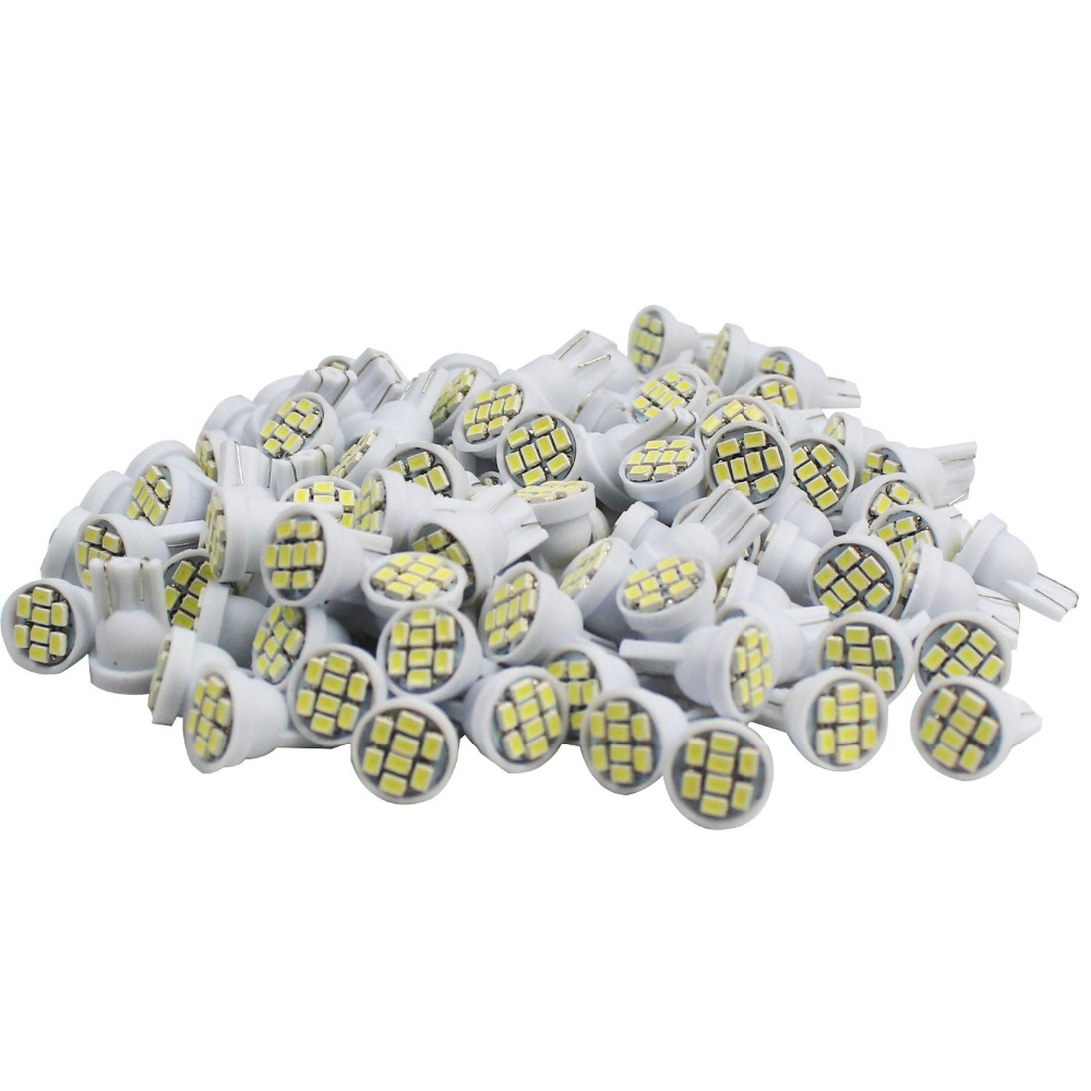 10 pcs Car-Styling T10 W5W 1206 8SMD 168 W5W LED Lamp Bulb Interior Dome Map Number License Plate Glove Box Side Marker Light 20 pcs t10 68led 1206 68 smd led w5w car 68smd 3020 dc12v 194 927 168 side wedge lamp marker bulb license plate lights