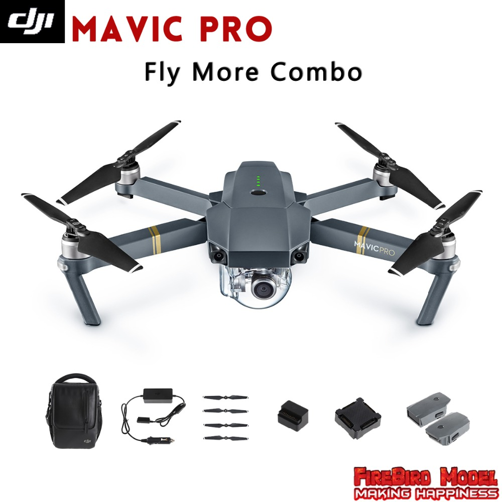 2016 Newest DJI Mavic Pro Fly more Combo Folding FPV Drone With 4K HD Camera, OcuSync Live View GPS GLONASS System RC Quadcopter