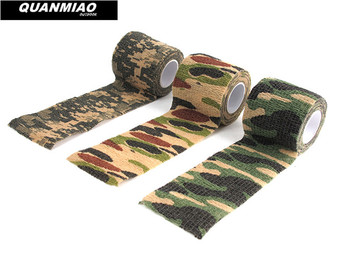 Multi-functional Camo Tape Non-woven Self-adhesive Camouflage Hunting Paintball Airsoft Rifle Waterproof Non-Slip Stealth Tape outdoor retractable camouflage tape camo self adhesive non woven fabric wrap desert camo