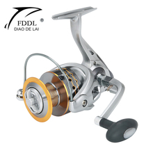Metal 5.1:1/5.2:1 12+1BB 2000-7000 Wheel Spool Spinning Reel Ice Saltwater Fishing Reels Lake Carp