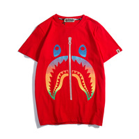 Bape kids by a bathing ape t shirt man summer color gradient