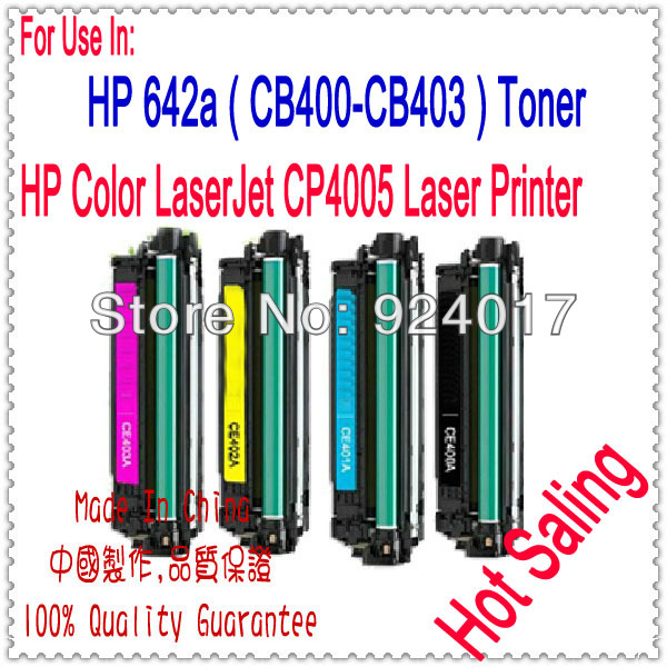 Toner Cartridge For HP Color LaserJet CP4005 CP4005n CP4005dn Printer,For HP 642A CB400A CB401A CB402A CB403A Toner Cartridge toner new printer cartridge for hp color 2840 toner low yield printer toner cartridge for hpcru free shipping