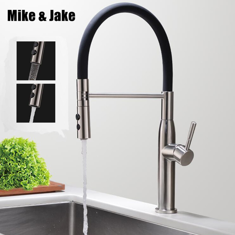 Free pb Stainless steel 304 Pull down black kitchen mixer healthy kitchen faucet lead free sink tap kitchen mixer tap 304 tap цена 2017