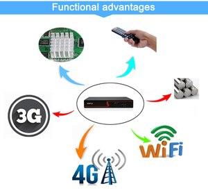 Image 4 - Czerwony Panel Hi3521D Xmeye Audio 4K 8MP 4CH 4 kanałowy H.265 + hybrydowy 6 w 1 XVI TVI CVI NVR AHD CCTV DVR nadzór wideorejestrator