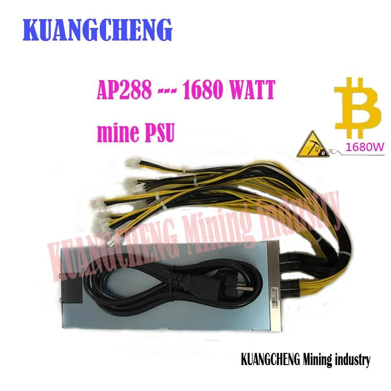 Kuangcheng free shipping ap288 bitcoin litecoin mining power 1680w 12v powr supply with 10pcs 6pin high