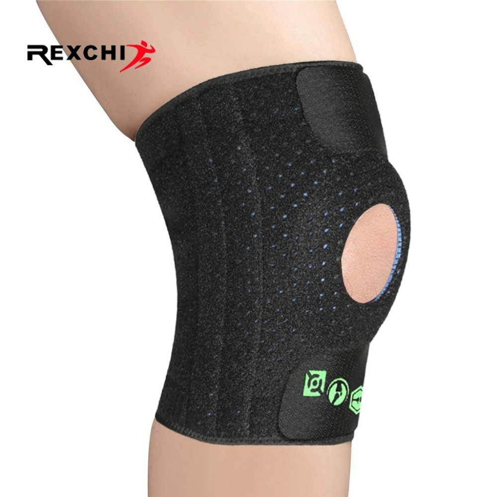 REXCHI Elastic Kneepad Adjustable Protective Gear Knee Patella Brace Sports Safety Training Support Pad Basketball Volleyball