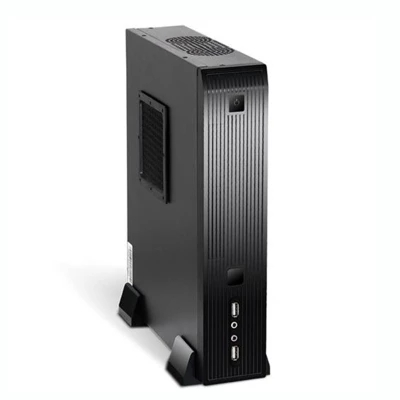 gaming Mini ITX computer box Desktop PC Case Horizontal with power supply Computer Chass ...